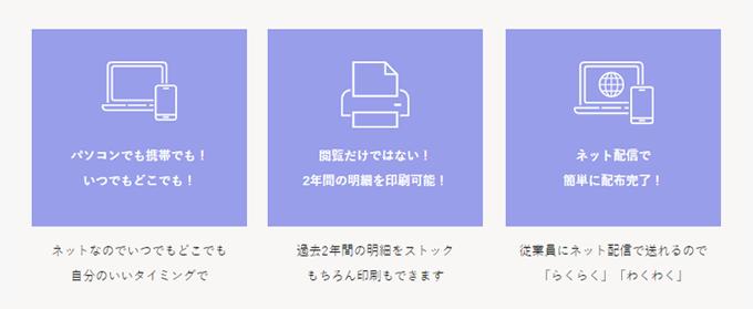 """""""らくらく"""" ネットde給与明細"""